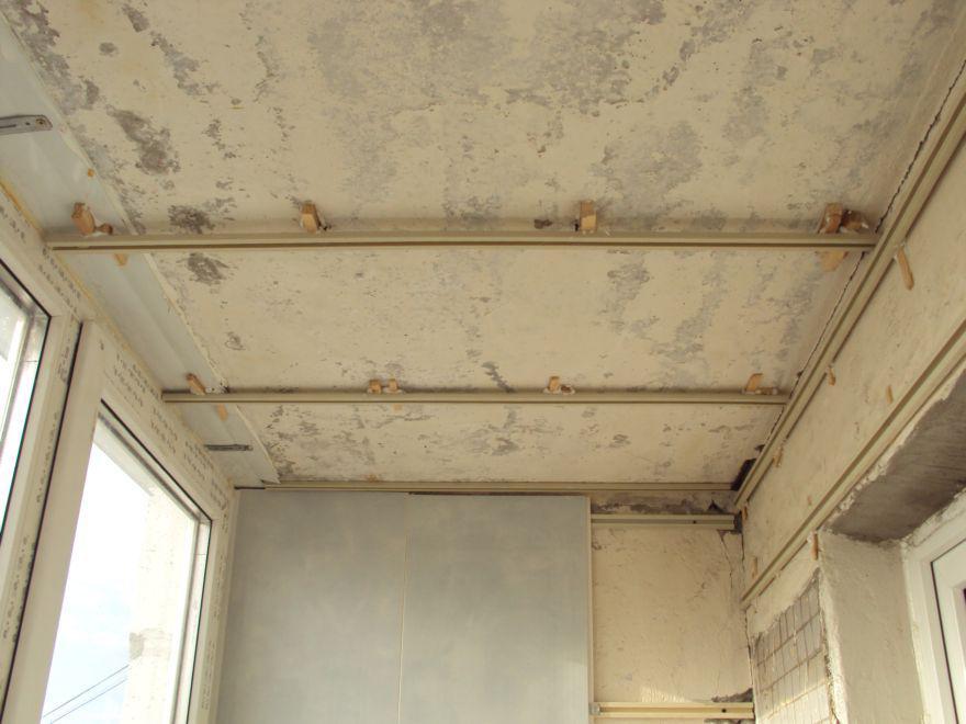 Как сделать потолки на балконе 640
